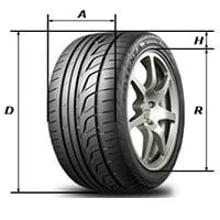 Размеры шин в сантиметрах