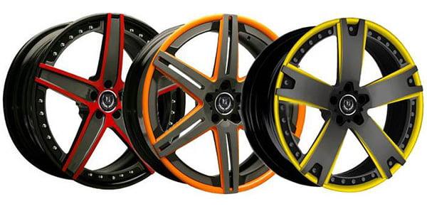Варианты покраски дисков для авто