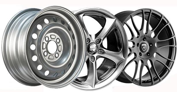 Виды колесных дисков